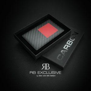 Private Carbon Businesscard Rettangolo Rosso