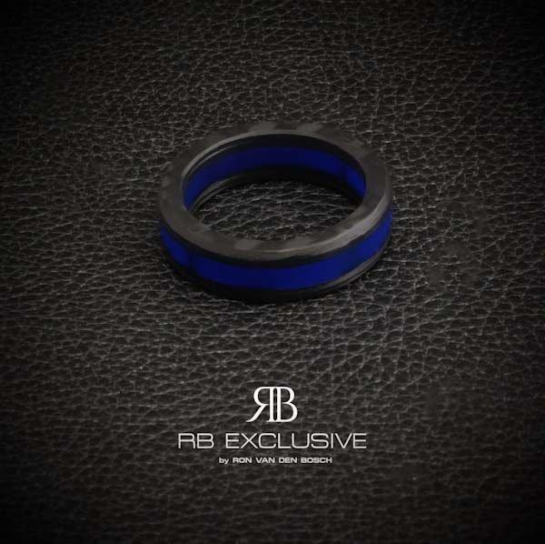 Carbon ring Azzurro